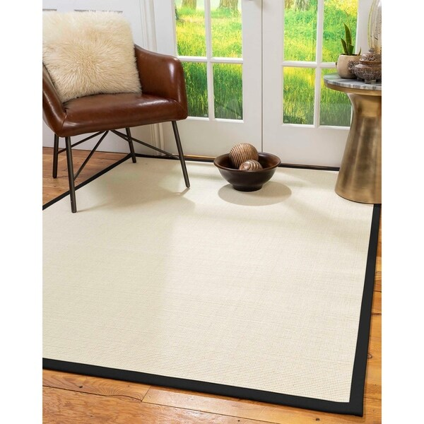 Shop Natural Area Rugs 100 Natural Fiber Handmade Icon White Wool