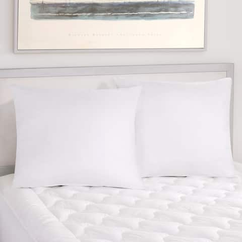 Five Queens Court Excellence Oversized Sham Stuffer Euro Pillow 2 Pack - White