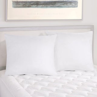 Five Queens Court Excellence Oversized Euro Pillow 2 Pack - White