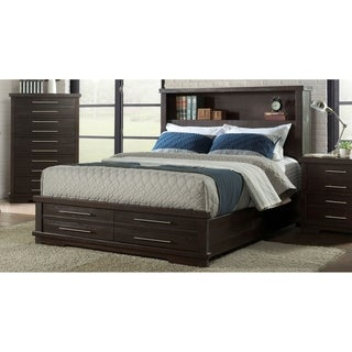 Martin Svensson Home Waterfront Solid Wood Bookcase Storage Bed, Espresso