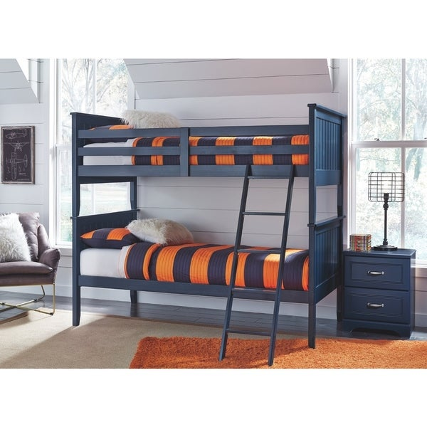 Shop Leo Twin Bunk Bed Slats Blue Free Shipping Today