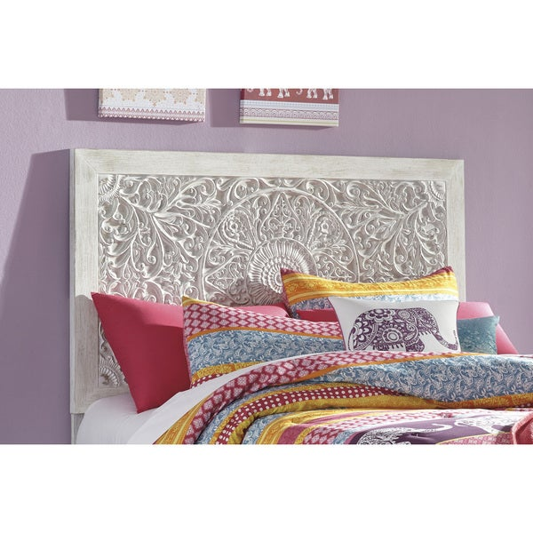 Paxberry Full Panel Headboard - White Wash. Opens flyout.