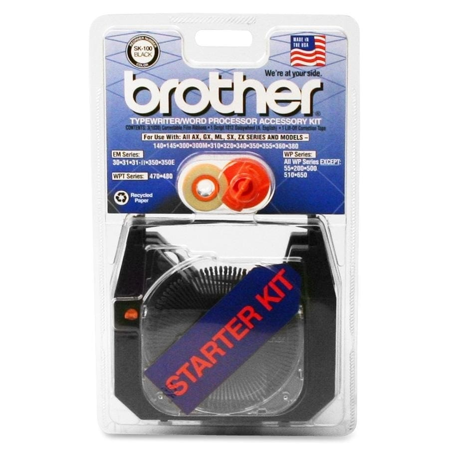 Brother BRTSK100 Singlestrike Supply Kit, For Daisywheel ...