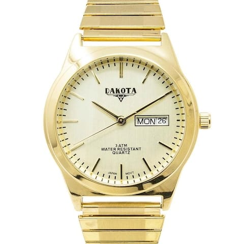 Dakota Easy to Read 35mm Day/Date Twist Expansion Stretch Band Watch