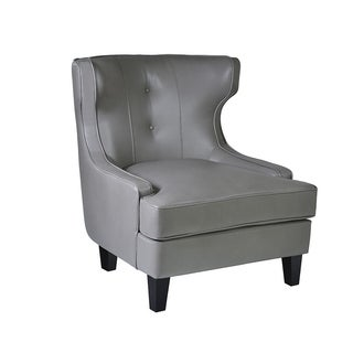 Armen Living Skyline Smoke Bonded Leather Chair