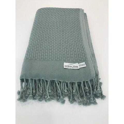 Himalaya Trading Company Cashmere Basketweave Throw