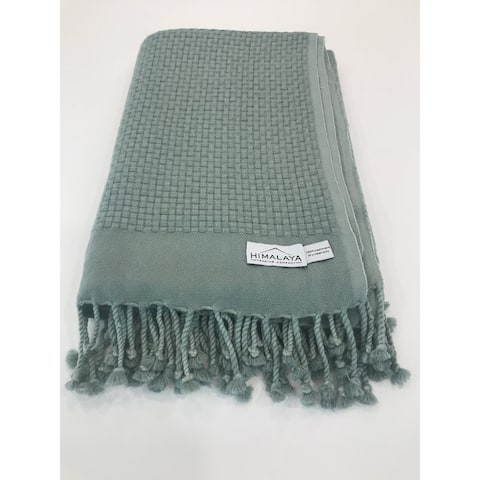 Himalaya Trading Company Cashmere Basketweave Throw
