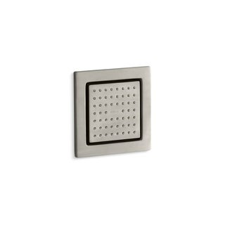 Kohler Watertile Square 54-Nozzle Body Spray with Soothing Spray Vibrant Brushed Nickel