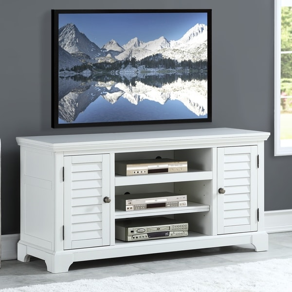 Shop Dover White 60 Inch Tv Stand By Greyson Living Free Shipping