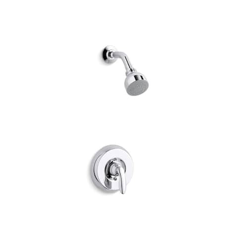 Kohler Coralais Rite-Temp Shower Valve Trim with Lever Handle and 2.5 GPM Showerhead Polished Chrome