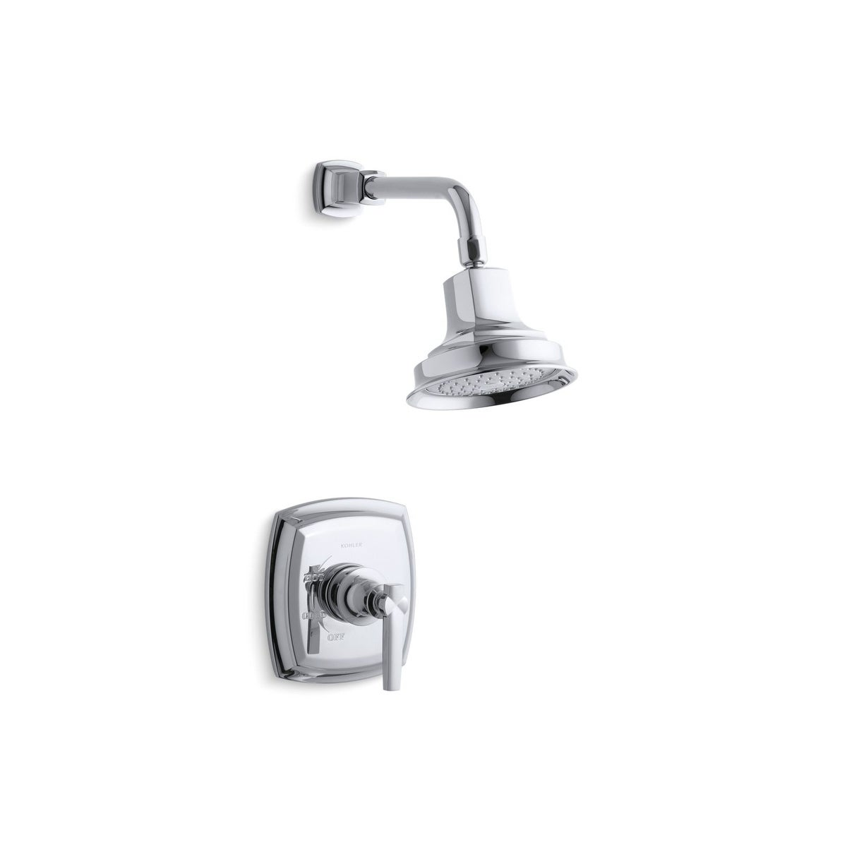 Kohler Margaux Rite Temp Shower Trim Set With Lever Handle Valve Not Included Polished Chrome