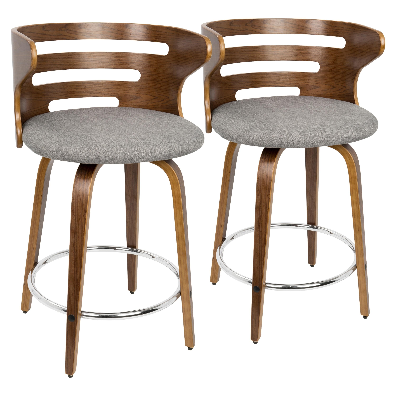 Peachy Carson Carrington Cranagh Mid Century Modern Upholstered Counter Stools Set Of 2 Cjindustries Chair Design For Home Cjindustriesco