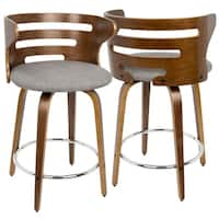 Carson Carrington Cranagh Mid-century Modern Upholstered Counter Stools (Set of 2)