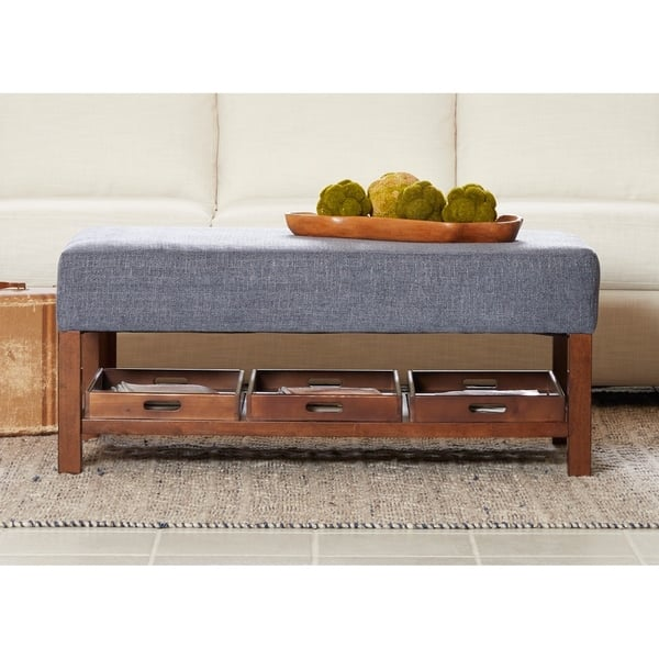 Astonishing Shop Pearson Rectangular Ottoman With Removable Trays By Evergreenethics Interior Chair Design Evergreenethicsorg
