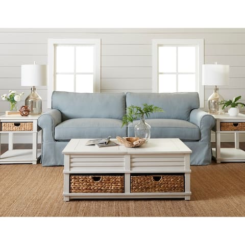 Olivia Down Blend Slipcovered Sofa by Avenue 405