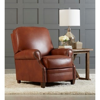 Kelsey Leather Push Back High Leg Reclining Chair by Avenue 405