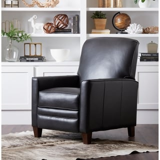 Shop Darvis Black Bonded Leather Recliner Club Chair By