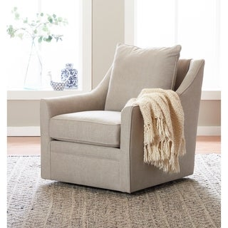 Shop Handy Living Khaki Microfiber Swivel Glider Arm Chair