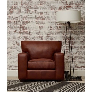 Drake Leather Down Blend Accent Chair by Avenue 405