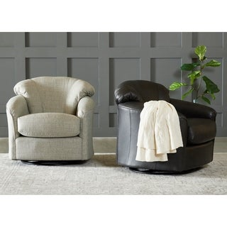 Shop Concordia Leather Swivel Chair By Christopher Knight