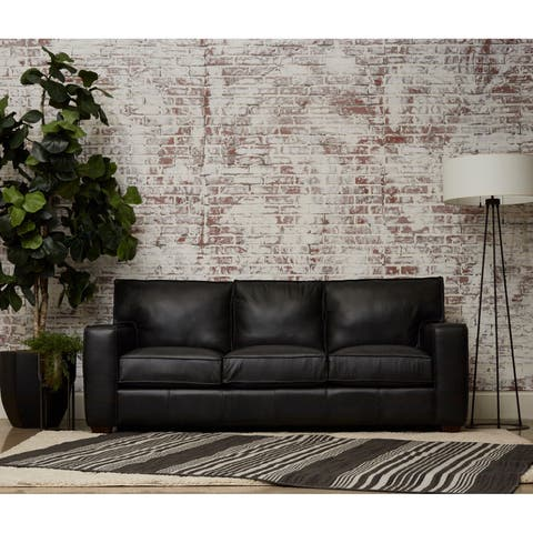 Drake Leather Down Blend Sofa by Avenue 405
