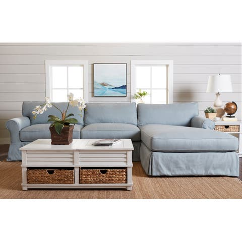 Olivia Down Blend Sofa Chaise Sectional by Avenue 405