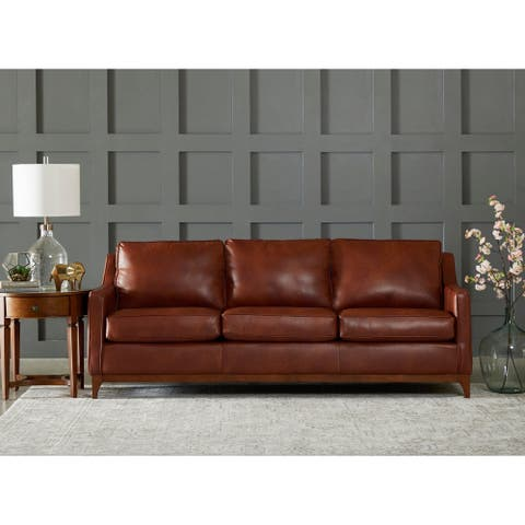 Ansley Wood Base Sofa by Avenue 405