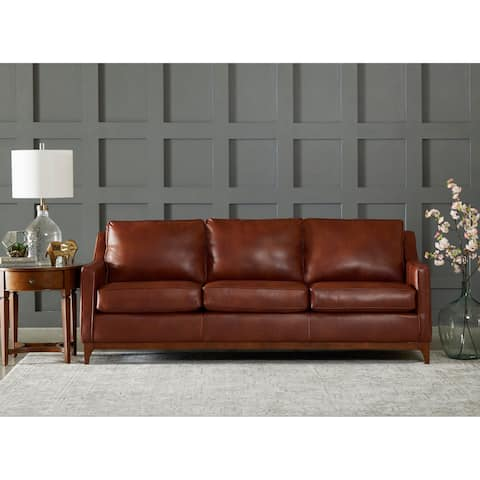 Ansley Wood Base Sofa by Avenue 405