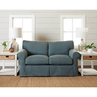 Olivia Down Blend slipcovered Loveseat by Avenue 405
