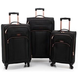 Emma 3 Piece Softside Expandable Spinner Luggage Set