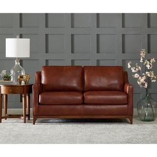 Ansley Wood Base Loveseat by Avenue 405