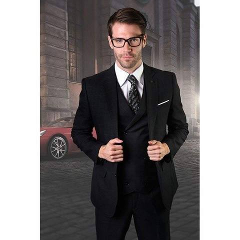 Statement Harward Black 3pc suit