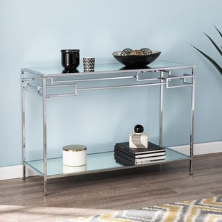Silver Orchid Hinding Mirrored Console Table