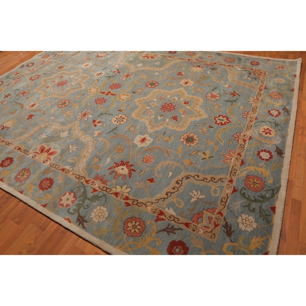 Shop Oushak Floral Tufted Wool Persian Oriental Area Rug: Shop Traditional Floral Persian Oriental Wool Area Rug (10