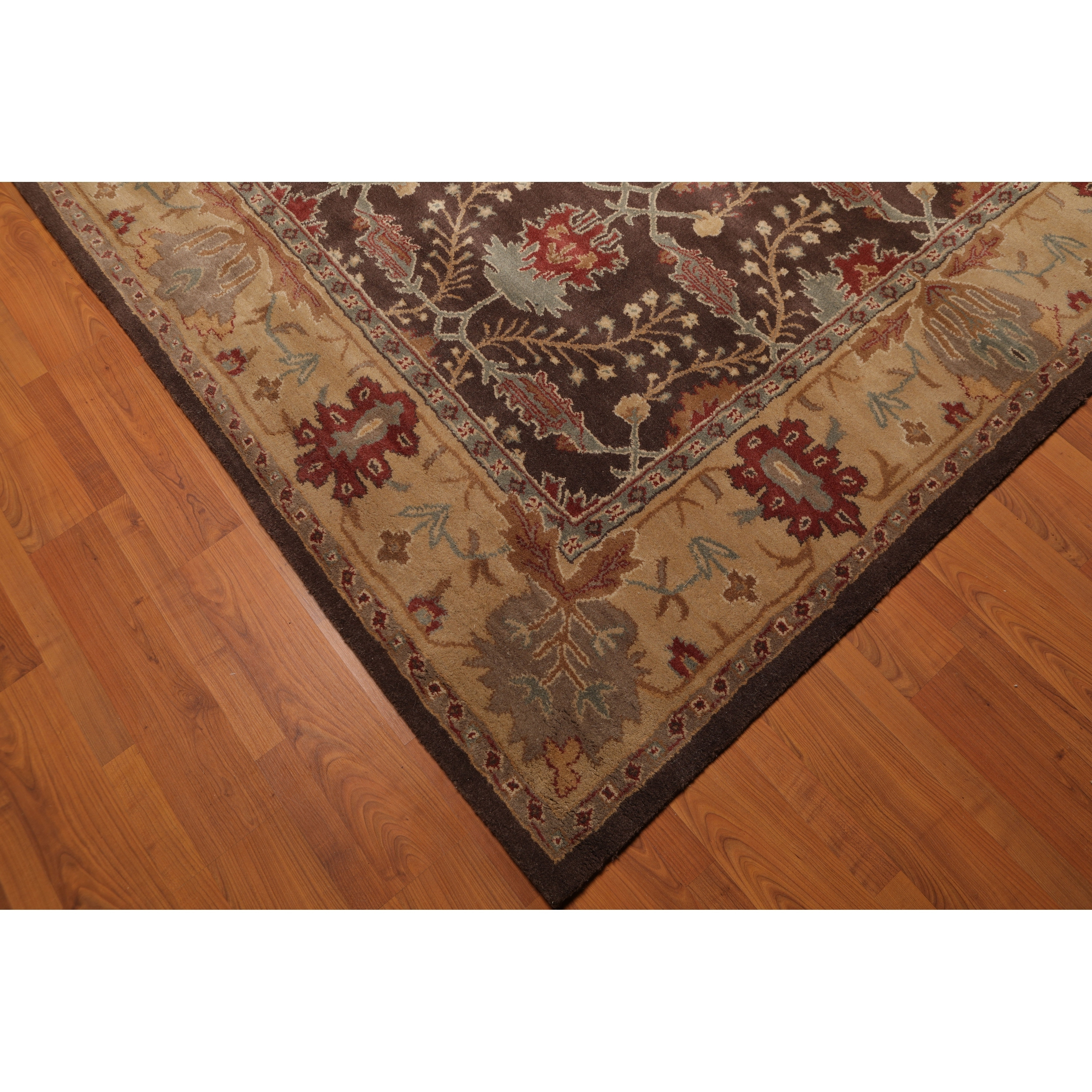 Arts Crafts Handmade Wool Area Rug 8