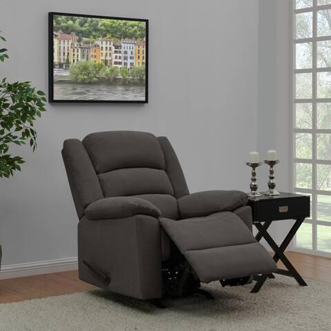 Copper Grove Stokkem Low Pile Velvet Rocker Recliner Chair