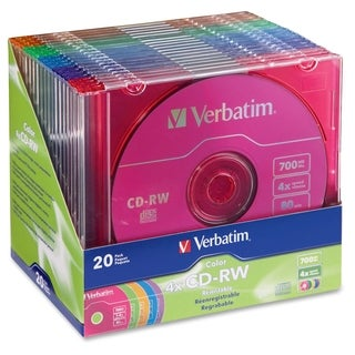 Verbatim CD-RW 700MB 2X-4X DataLifePlus with Color Branded Surface an
