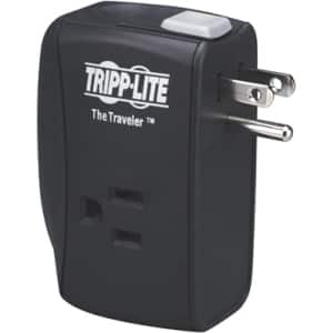 Tripp Lite Notebook Surge Protector Wallmount Direct Plug In 2 Outlet RJ11