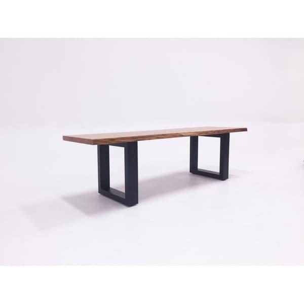 Amazing Modrest Lance Modern Live Edge Ash Wood Dining Bench Download Free Architecture Designs Rallybritishbridgeorg