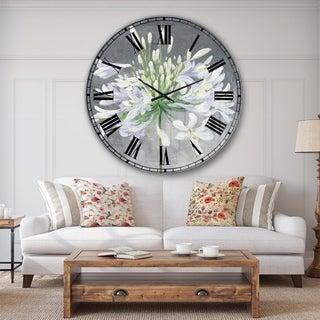 Designart 'Flower Cleome Splash I' Traditional Floral Large Wall CLock
