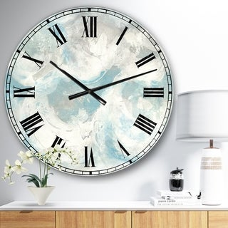 Designart 'Pale Blue Shade IV' Modern Farmhouse Large Wall CLock