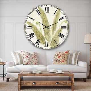 Designart 'Simple Forest II' Floral & Botanical Wall CLock