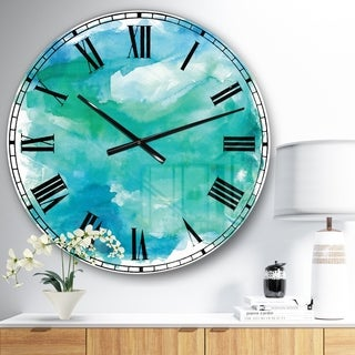 Designart 'Sea Glass' Traditional Large Wall CLock
