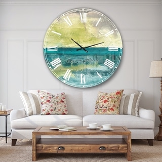 Designart 'Beyond the Horizon I' Traditional Landscape Large Wall CLock