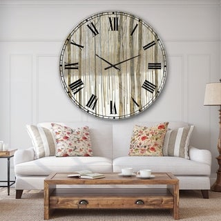 The Gray Barn Jartop 'Forest in Winter Gold' Cabin and Lodge Oversized Metal Clock