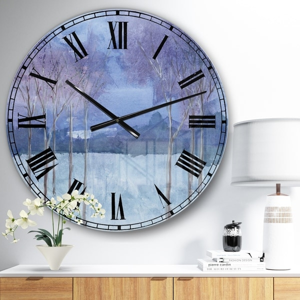Designart 'Evening Serenade II' Traditional Landscape Large Wall CLock