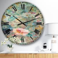 Silver Orchid Fonteney Cabin & Lodge Oversized Metal Clock