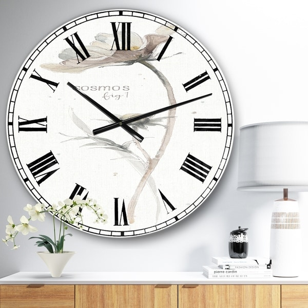 Designart 'A Country Weekend VII No Border' Traditional Large Wall CLock