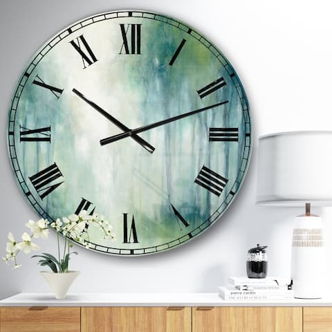 Designart 'Walk in the Forest' Traditional Landscape Large Wall CLock