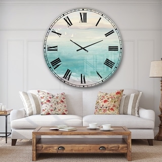 Designart 'From the Shore' Traditional Large Wall CLock